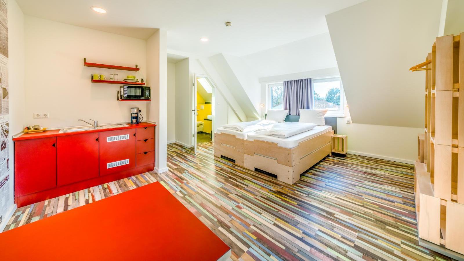 Das Hostel Art & Style eingerichtete Zimmer